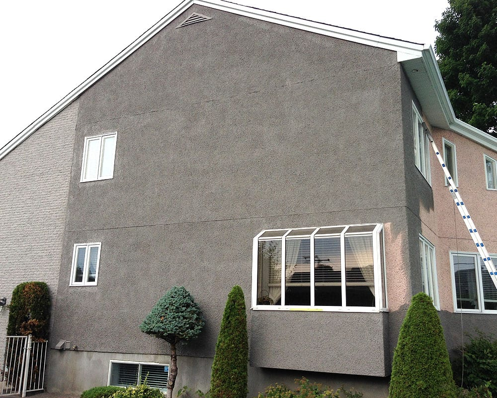 Aggregate stucco painting prex montreal 514 652 2990 for Revetements exterieur de maison
