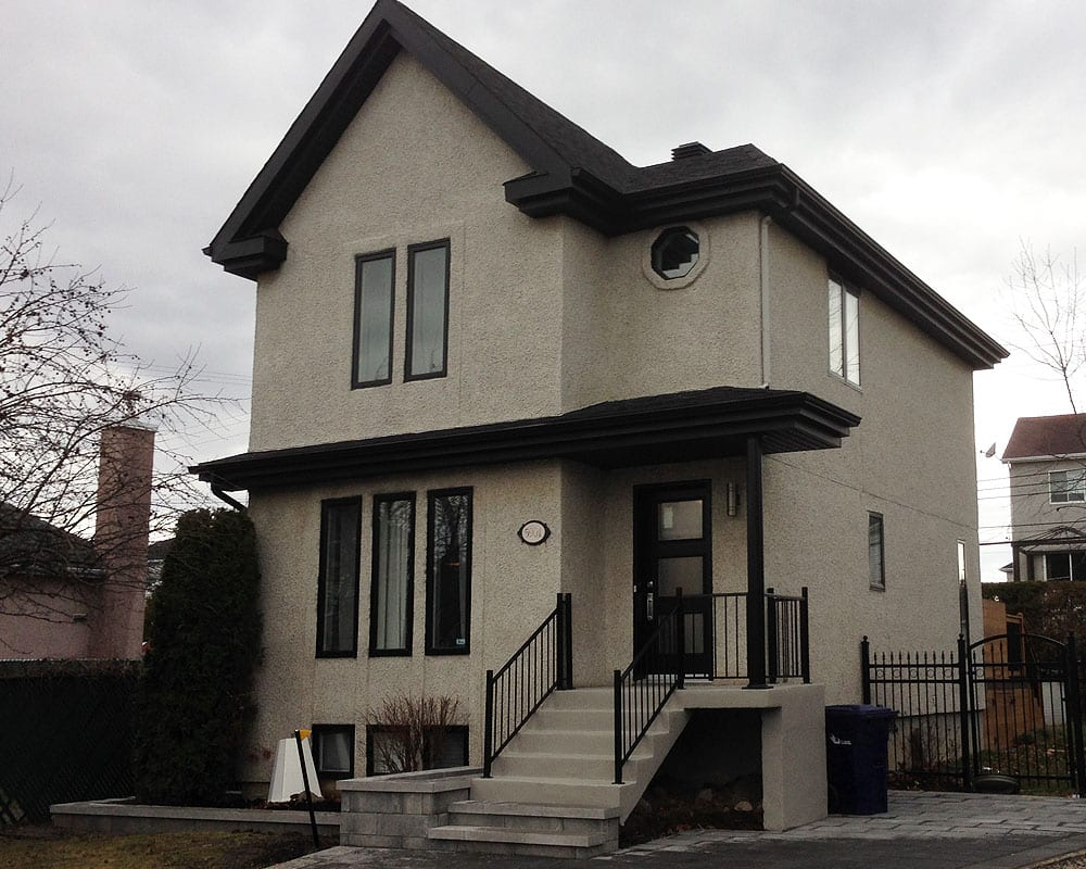 Aggregate stucco painting prex montreal 514 652 2990 - Exterior paint coverage on stucco ...